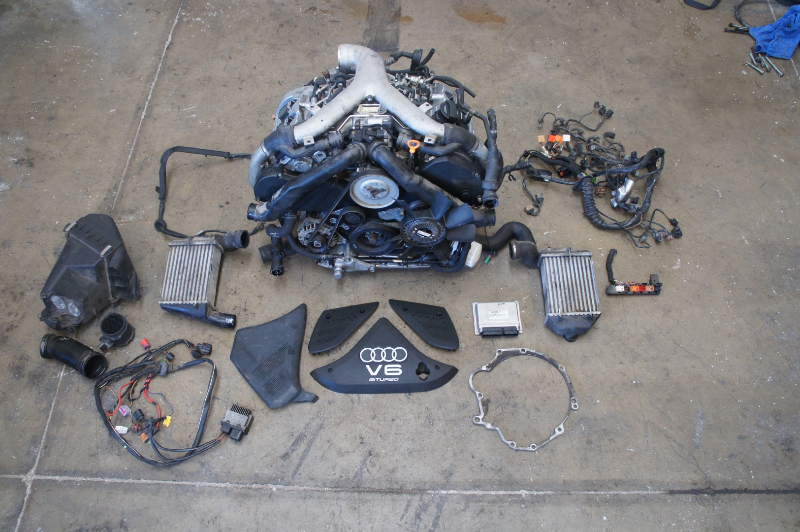Audi B6 B7 A4 S4 27t Conversion Kit Wiring Harness Engine Scam N75 Boost Valve O2 Oil Level Pressure Intake Temp Coolant Etc Motor Mounts Turbos If Selected At Checkout All Turbo And Lines