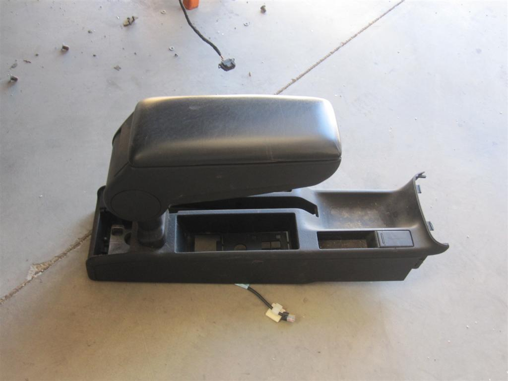 00 02 Audi S4 A4 Black Leather Center Console W Lid