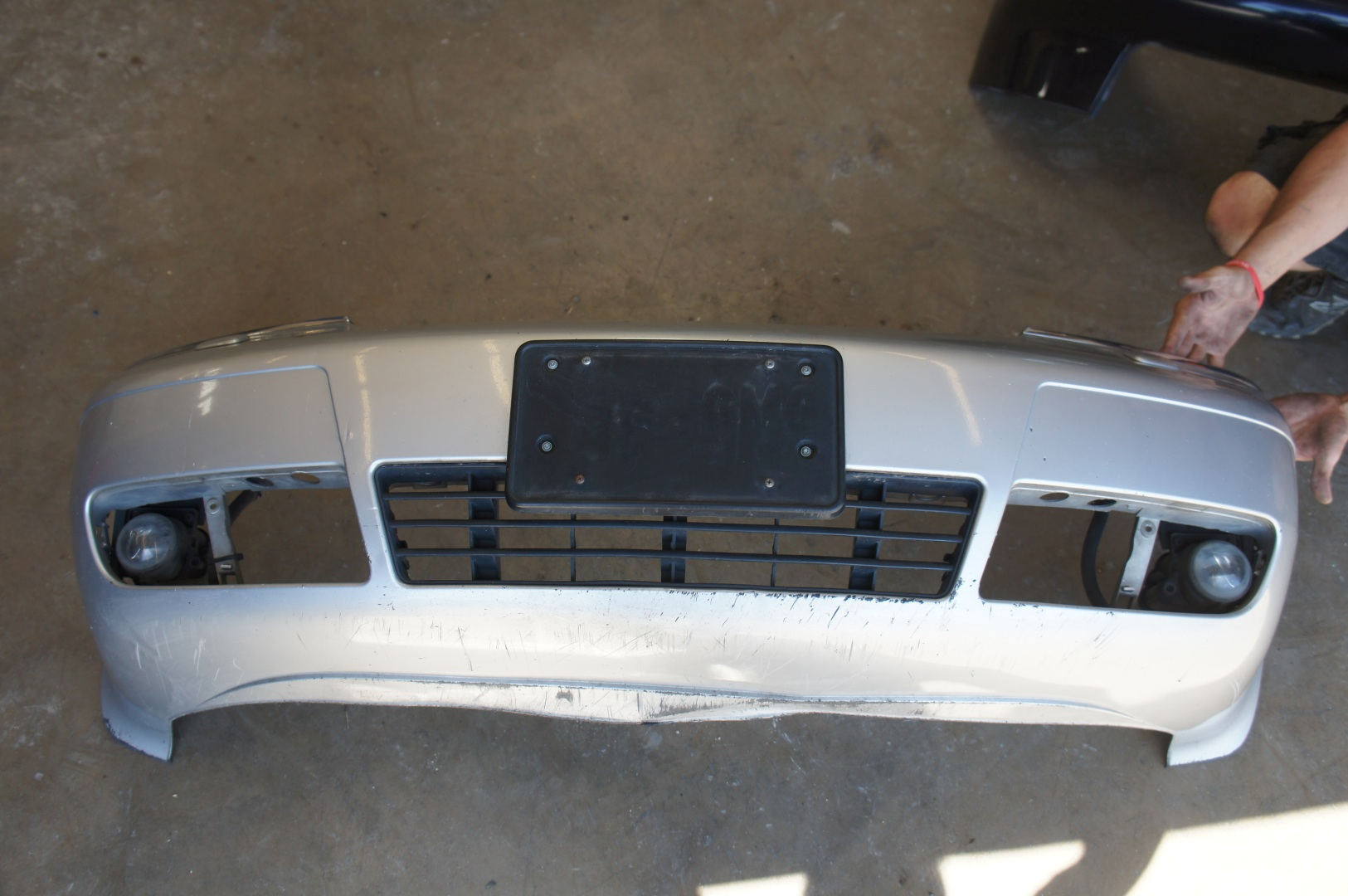 Used Audi A6 For Sale >> 98-01 Audi C5 A6 OEM Front Bumper Silver LY7W: Audis4parts.com