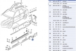 00-02 Audi S4 Lower L- Bracket for Sideskirt (left Lower)