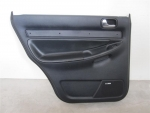 00-02 Audi S4 A4 Rear LEFT Black Door Panel BOSE