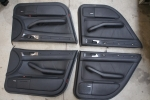 00-04 Audi C5 A6 Allroad OEM Black Leather Door Card Set With Sun Shade